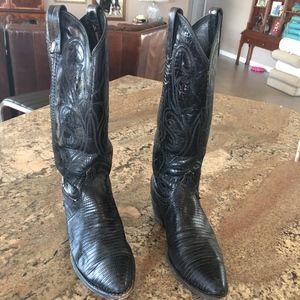 Dan Post Womens snake/lizard western boots